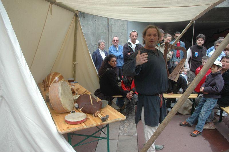 Animations antiques époque gallo-romaine par les VOYAGEURS du TEMPS - Musee Izernore - Fête du patrimoine les 17 et 18 septembre 2011 -